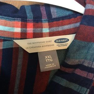 Old Navy Tops - Old Navy Multi-Color Boyfriend Style Flannel